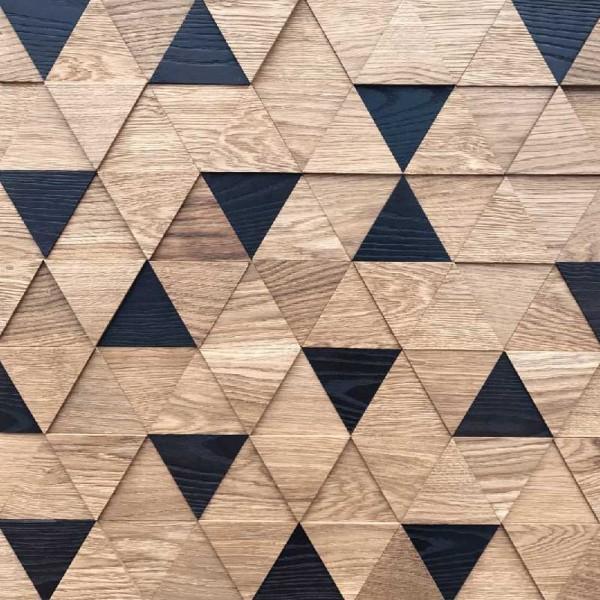 Стеновые панели Дуб/Термоясень Трой 3D Т.М.2.0